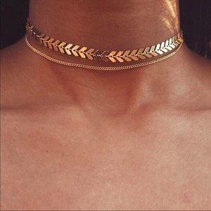 Jewelry - • Scarlett • Layered Herringbone Choker